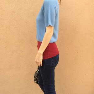 Anthropologie Sweaters - Hanukkah Baby Blue Pearl Collar Sweater